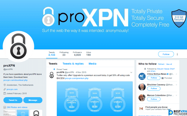 Proxpn twitter