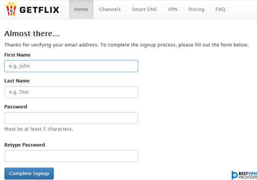 getflix dns account