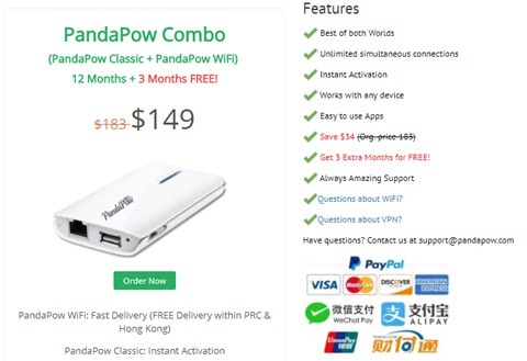 Pandapow Combo Pricing Plan