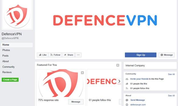 DefenceVPN Facebook