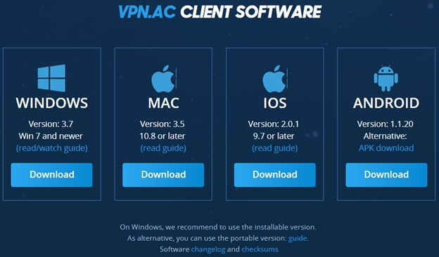 VPN.AC Apps Compatibility