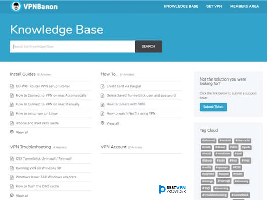 VPNBaron Knowledge Base