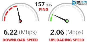 ipvanish second speed test on broadband connection 2