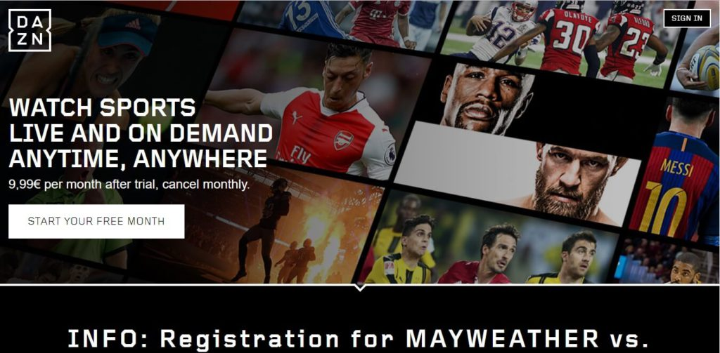 Cheapest Way to Watch Mayweather vs McGregor Using DAZN Website