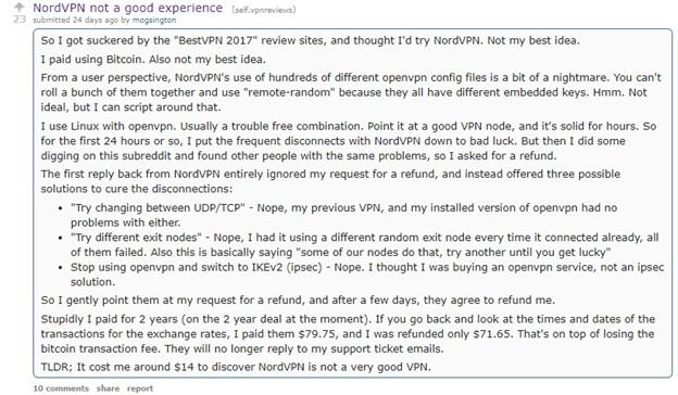 NordVPN Reddit Reviews 2