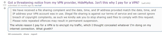 Redditors Review of HideMyAss