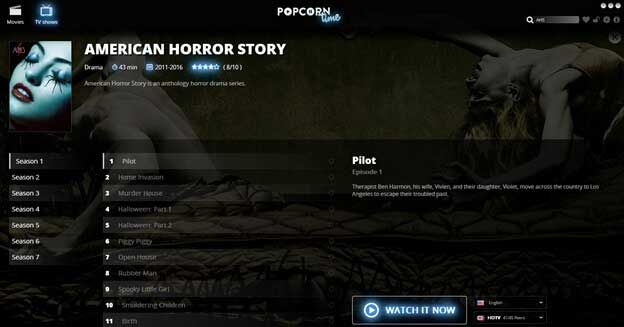 how to watch american horror story on popcorn time