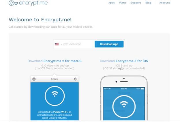 Encrypt.me Login Process