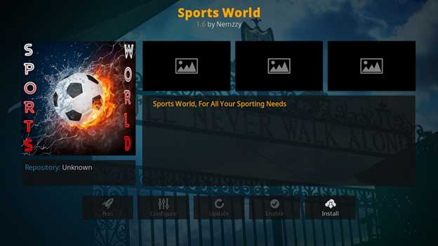 How to Watch NFL on sports world kodi