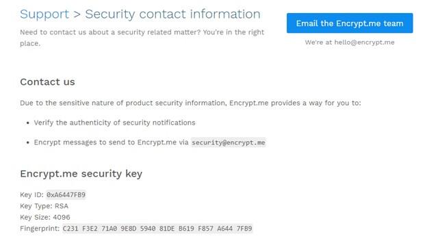 Encrypt.me security