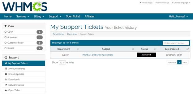 VPN Master tickets