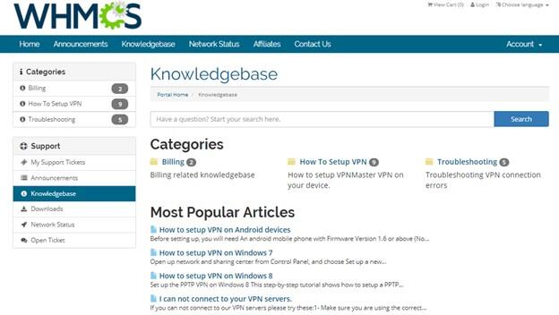 VPN Master knowledgebase