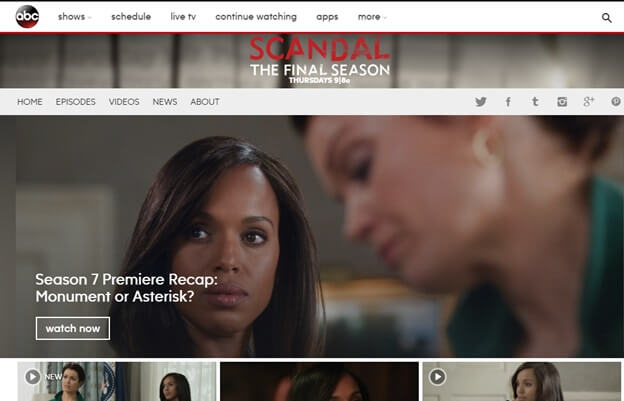 How to Watch Scandal without Cable from Anywhere