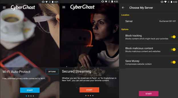 CyberGhost Android VPN