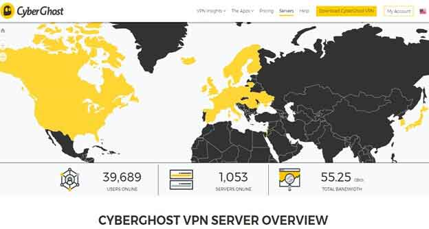 CyberGhost VPN Servers Review