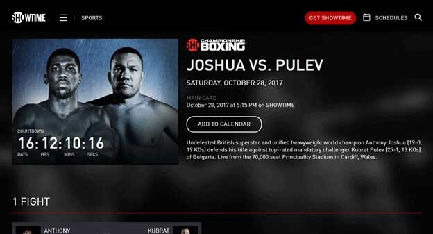 Cheapest Way to Watch Joshua vs. Pulev from Anywhere