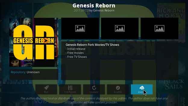 Genesis Reborn Free TV shows and movies