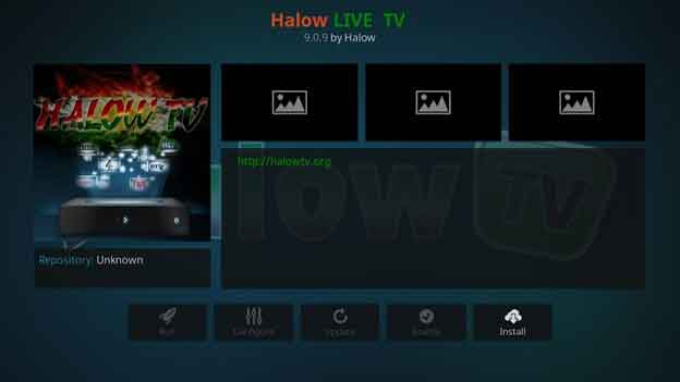 Halow Live TV addon for Kodi