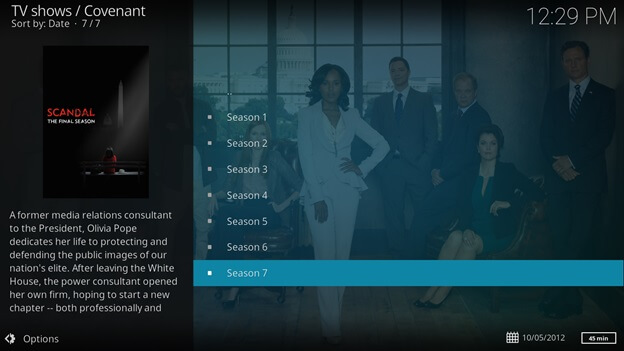 How to Watch Scandal Live Streaming Free On Kodi