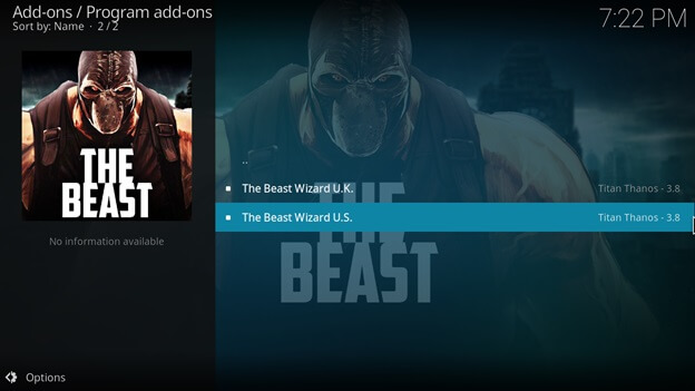 the beast kodi review