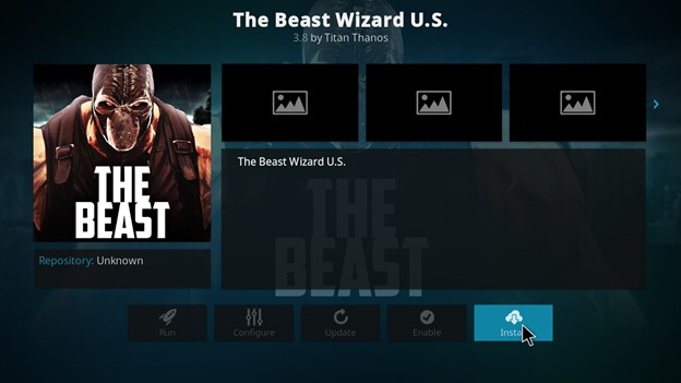 how to install the beast kodi jarvis version 16 or below