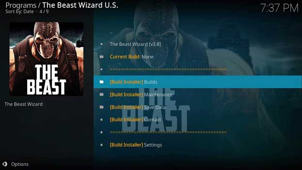 the beast build installer kodi