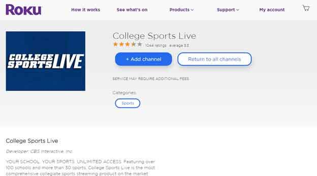 How to Watch NCAA College Football on Roku