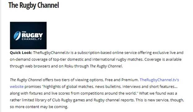 How to Watch Rugby League World Cup on Roku