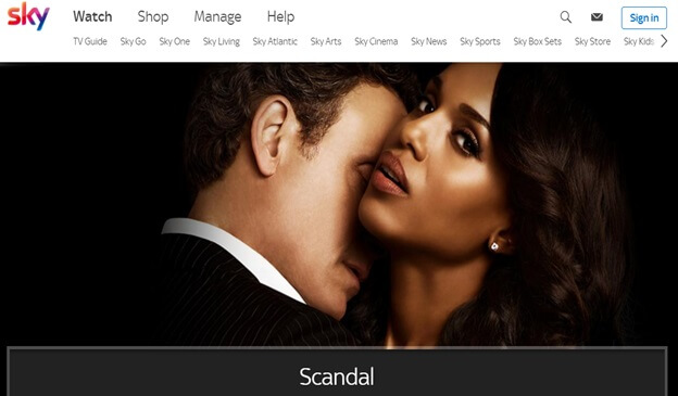How to Watch Scandal in UK