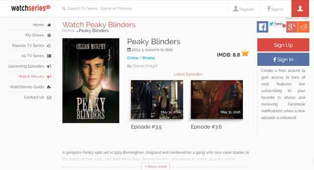 Watch Peaky Blinders on Watchseries