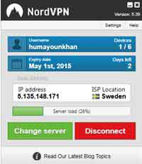 nordvpn account