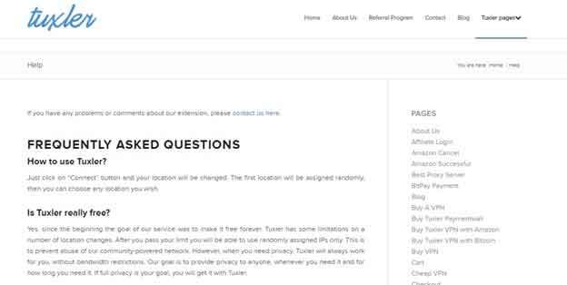 Tuxler FAQs
