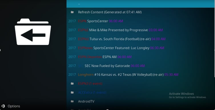 how to watch espn on kodi without cable