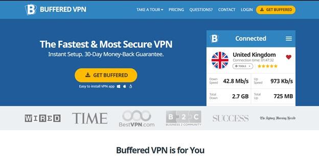 Buffered is free alternative of nordvpn