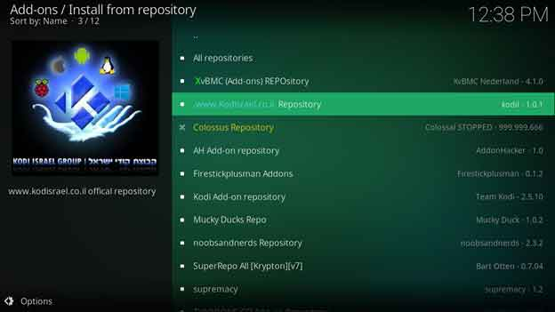 Go to the Install from Repository