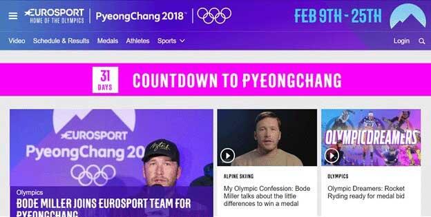Winter Olympics 2018 EuroSport