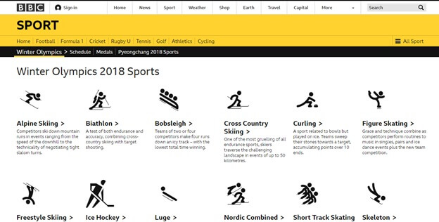 Winter Olympics 2018 BBC Sports