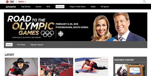 Winter Olympics 2018 CBC Sports